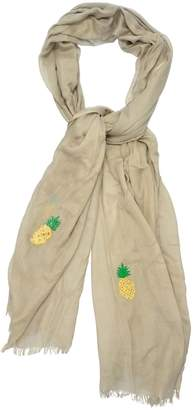 Guadalupe Design Embroidered Pineapple Cotton Scarf
