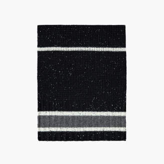 James Perse STRIPED CASHMERE WAFFLE KNIT SCARF