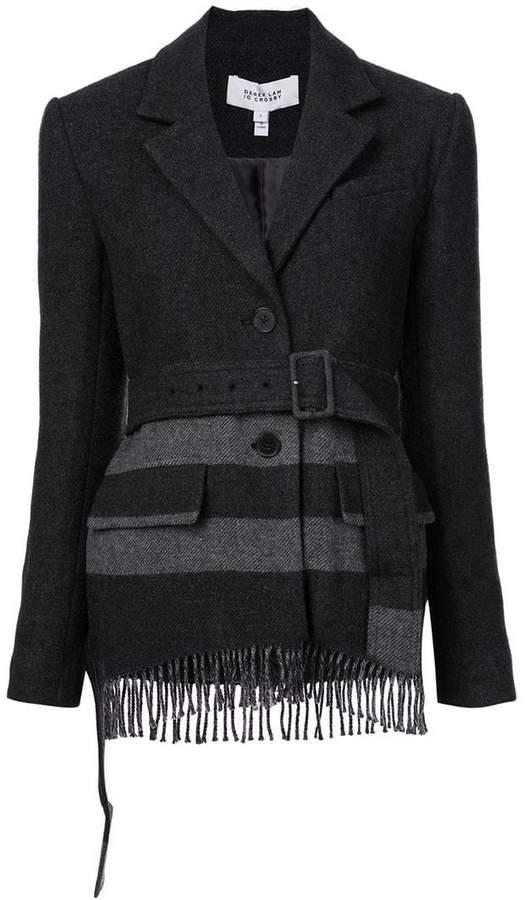 Jacket with Fringe Hem
