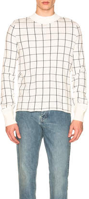 Sacai Windowpane Knit Pullover
