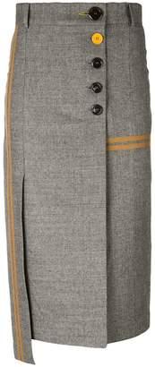 Eudon Choi Phoebe asymmetric pencil skirt