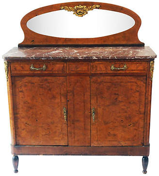 One Kings Lane Vintage Antique Marble-Top Sideboard - La Maison Supreme