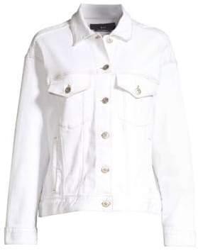 3x1 Women's Oversize Jean Jacket - Winter White - Size Medium