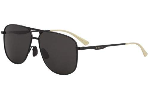 Gucci Men's GG0336S GG/0336/S 005 Black Fashion Pilot Polarized Sunglasses 60mm