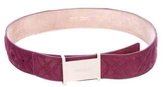 Jimmy Choo Quilted Suede Belt