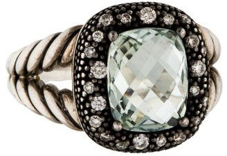 David Yurman Diamond & Prasiolite Midnight Mélange Ring $495 thestylecure.com