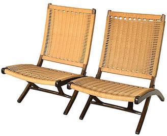One Kings Lane Vintage Midcentury Hans Wegner-Style Chairs - Set of 2 - Uptown Found