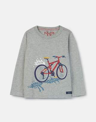 Joules Grey Sweat And Gears Jack Applique T-Shirt 3-12 Years Size 3Yr