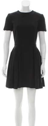 Alexander McQueen Pleated Short Sleeve Dress