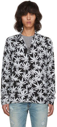 Amiri Black and White Palm Shirt
