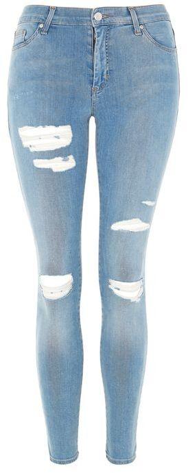 TopshopTopshop Moto bleach super rip leigh jeans