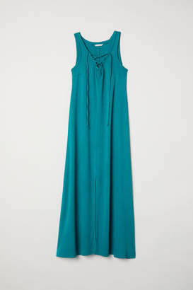 H&M MAMA Dress with Lacing - Turquoise