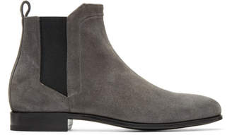 Pierre Hardy Grey Suede Drugstore Chelsea Boots