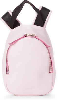 Jil Sander Navy Pink Pebbled Leather Mini Backpack