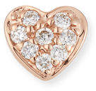 Sydney Evan 14k Diamond Heart Single Stud Earring
