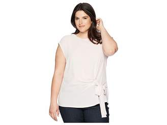 Vince Camuto Specialty Size Plus Size Sleeveless Soft Texture Tie Front Blouse Women's Blouse