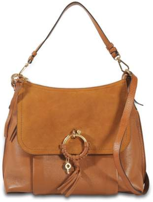 See by Chloe Joan Large Hobo Bag in Caramelo Leather and Suede