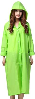 TXY Unisex Lightweight Rain Poncho Coat Portable Raincoat Hooded Rain Jacket (L, )