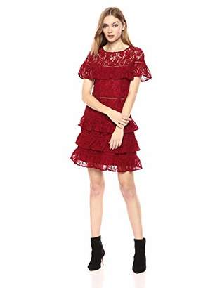BB Dakota Junior's Aphrodite Tiered Ruffle Dress