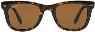 Ray-Ban Rb4105 50 Folding Wayfarer Brown Square Sunglasses
