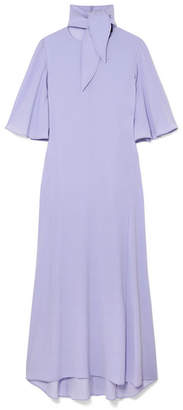 Ellery Marrakesh Crepe De Chine Midi Dress - Lilac