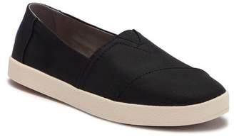 Toms Avalon Black Nylon Slip-On Sneaker