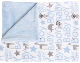 Thro Cory Safari Print Fleece Baby Throw