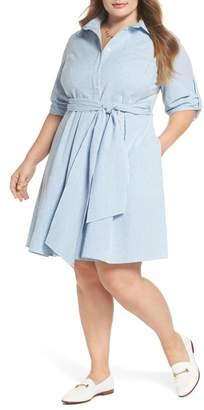 1901 Seersucker Shirtdress (Plus Size)