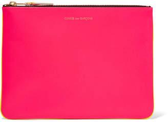Comme des Garçons - Super Fluo Neon Leather Pouch - Pink $145 thestylecure.com