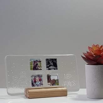 Martasha Personalised Photo Gifts Personalised Landscape Glass Photograph Display Frame
