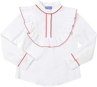 Stella Jean Ruffles Cotton Poplin Shirt