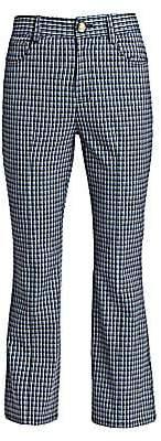 Derek Lam 10 Crosby Women's Gingham Crop Flare Pants