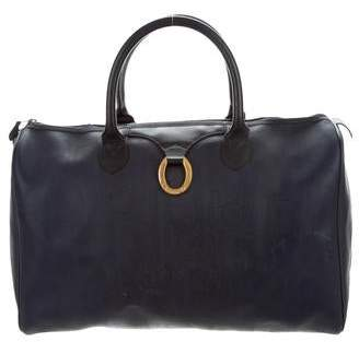 Christian Dior Leather Trimmed Diorissimo Duffle