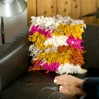 Chi Chi Moi Shaggy Wool Hand Knitted Cushion