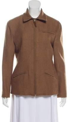 Ralph Lauren Wool Herringbone Blazer Brown Wool Herringbone Blazer