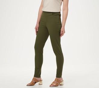 Isaac Mizrahi Live! Regular 24/7 Stretch Slim Leg Pants with Pockets