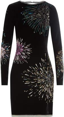 Roberto Cavalli Silk Dress with Bead Embellishment