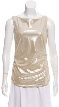 Ralph Lauren Suede Metallic Top
