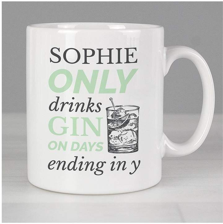 Mothers Day Personalised Gin Mug