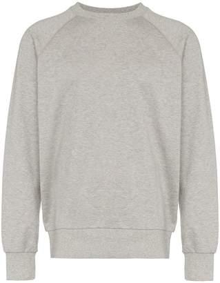 Y-3 logo printed crew neck sweatshirt