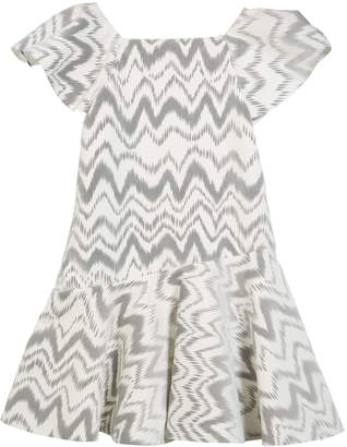 Kenzie Zoe Flocked Knit Zigzag Dress Size 4-6X