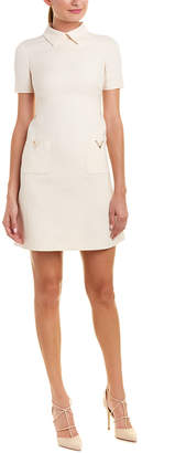 Valentino Wool & Silk-Blend Shift Dress