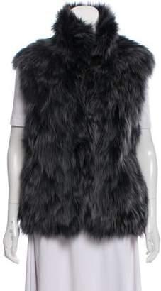 Adrienne Landau Fox Fur Arlen Vest