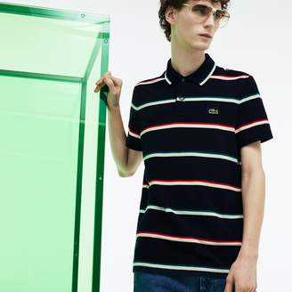 Lacoste Unisex Fashion Show Colored Stripes Pique Polo