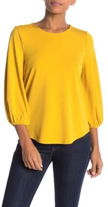 Adrianna Papell 3\u002F4 Sleeve Solid Blouse