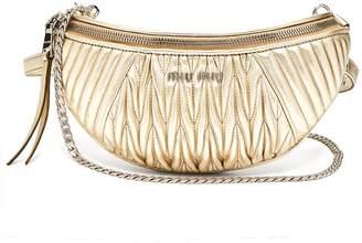 Miu Miu Mattelassé-quilted leather belt bag