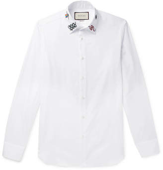 70fa9e55 Gucci Slim Fit Cotton Shirt - ShopStyle Australia