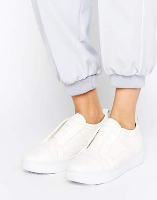 G-Star Scuba White Leather Slip On Sneakers $190 thestylecure.com