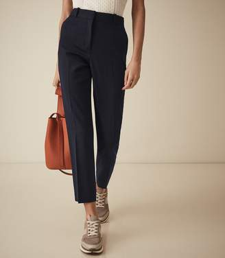 Reiss Fenton - Slim Fit Tailored Trousers in Navy