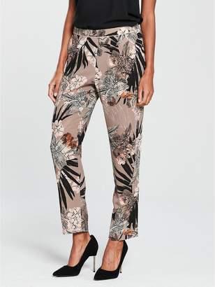 Wallis Pull On Trouser - Palm Print
